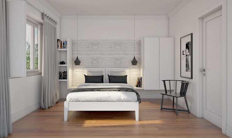 MRS - Interior Design Modern style bedroom White