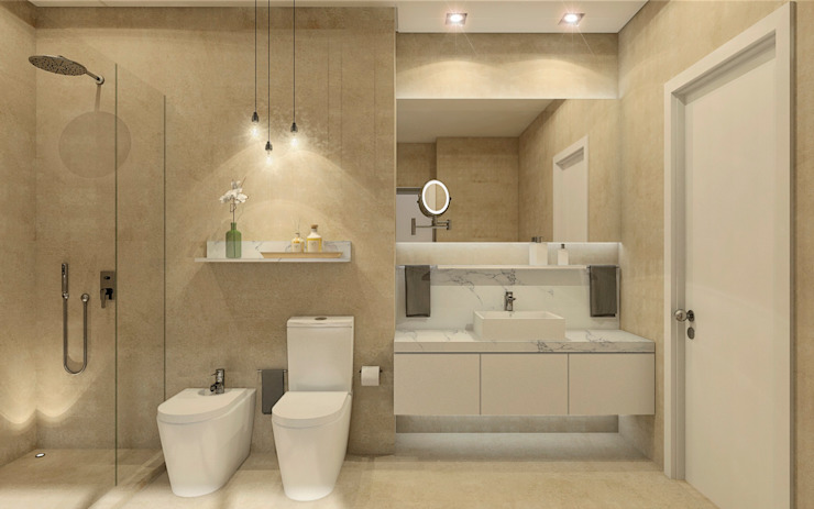 MRS - Interior Design Modern bathroom Beige
