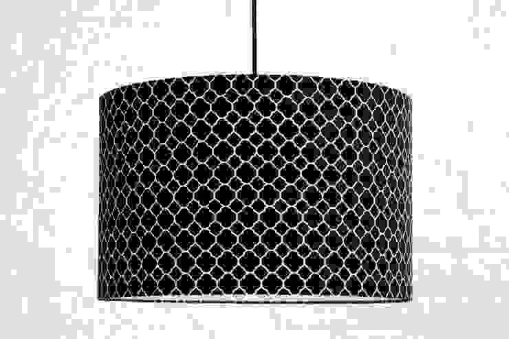 Lampa sufitowa koniczyna marokańska mała czarna od youngDECO Nowoczesny Bawełna Czerwony