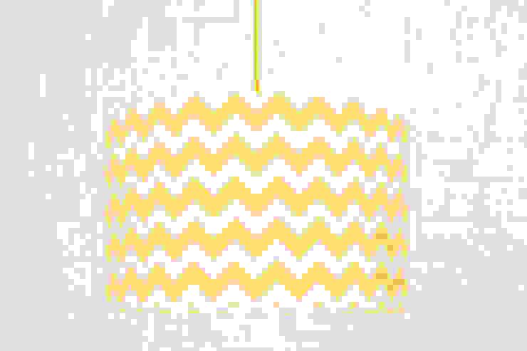 Lampa sufitowa chevron żółty od youngDECO Nowoczesny Bawełna Czerwony