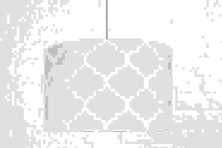 Lampa sufitowa koniczyna marokańska szara od youngDECO Nowoczesny Bawełna Czerwony