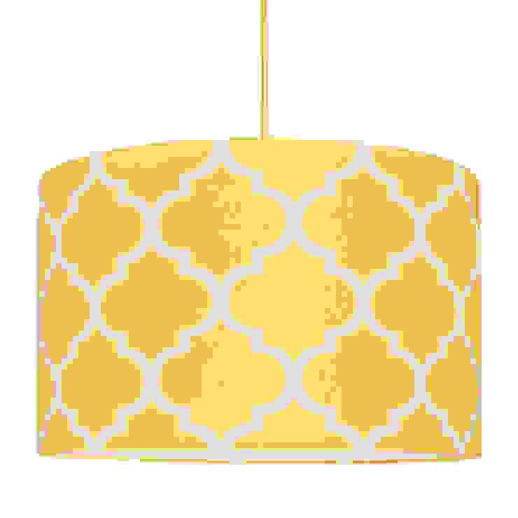Lampa sufitowa koniczyna marokańska żółta od youngDECO Nowoczesny Bawełna Czerwony