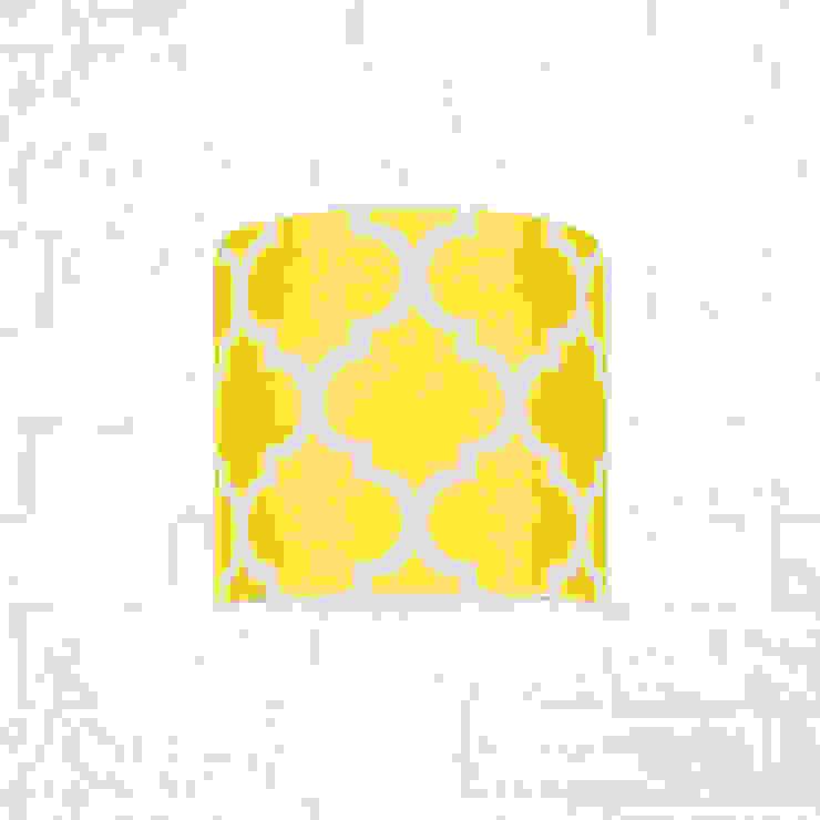 Kinkiet koniczyna marokańska żółta od youngDECO Nowoczesny Bawełna Czerwony