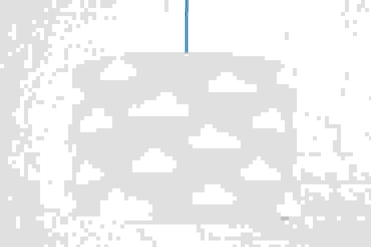 Lampa sufitowa chmurki na błękitnym od youngDECO Skandynawski Bawełna Czerwony