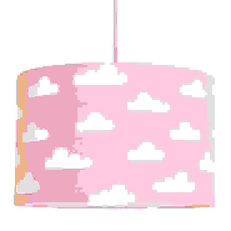 Lampa sufitowa chmurki na różowym od youngDECO Skandynawski Bawełna Czerwony
