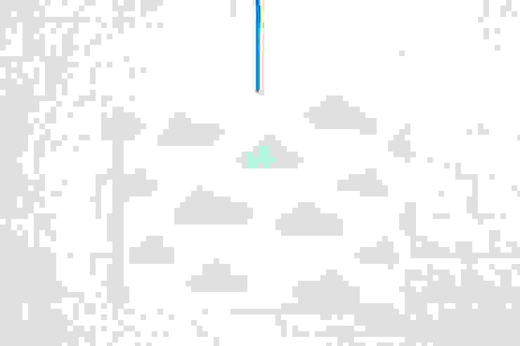 Lampa sufitowa chmurki błękitne od youngDECO Skandynawski Bawełna Czerwony