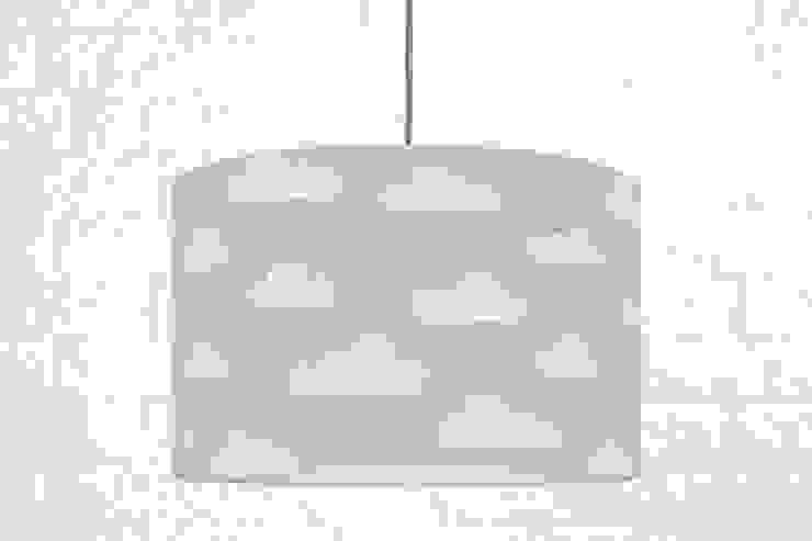 Lampa sufitowa chmurki na szarym od youngDECO Skandynawski Bawełna Czerwony