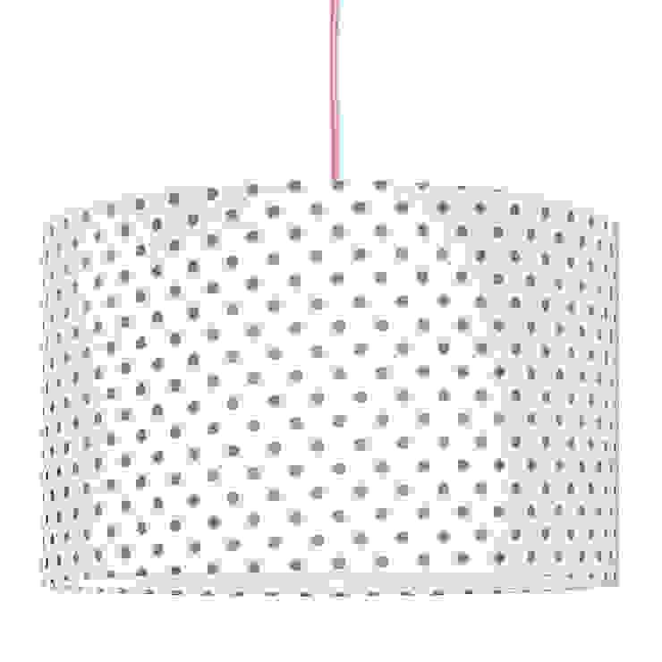 Lampa sufitowa grochy szare od youngDECO Skandynawski Bawełna Czerwony