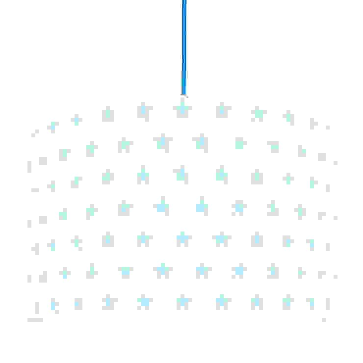 Lampa sufitowa gwiazdki błękitne od youngDECO Skandynawski Bawełna Czerwony