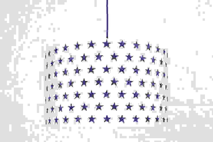 Lampa sufitowa gwiazdki granatowe od youngDECO Skandynawski Bawełna Czerwony