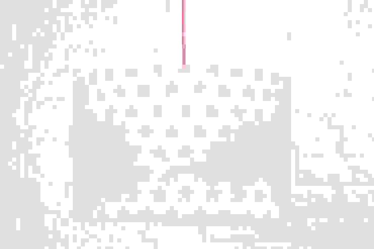Lampa sufitowa gwiazdki różowe od youngDECO Skandynawski Bawełna Czerwony
