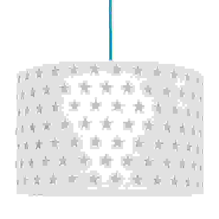 Lampa sufitowa gwiazdki szare od youngDECO Skandynawski Bawełna Czerwony