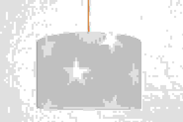 Lampa sufitowa gwiazdy na szarym od youngDECO Skandynawski Bawełna Czerwony