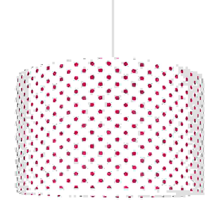 Lampa sufitowa grochy amarantowe od youngDECO Skandynawski Bawełna Czerwony