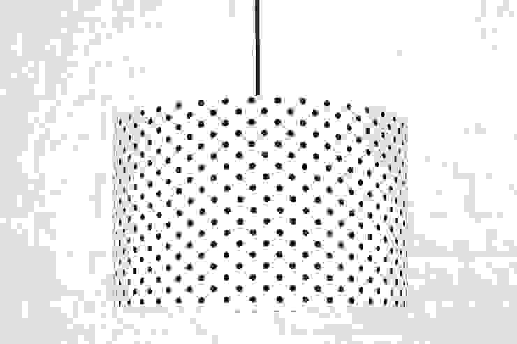 Lampa sufitowa grochy czarne od youngDECO Skandynawski Bawełna Czerwony