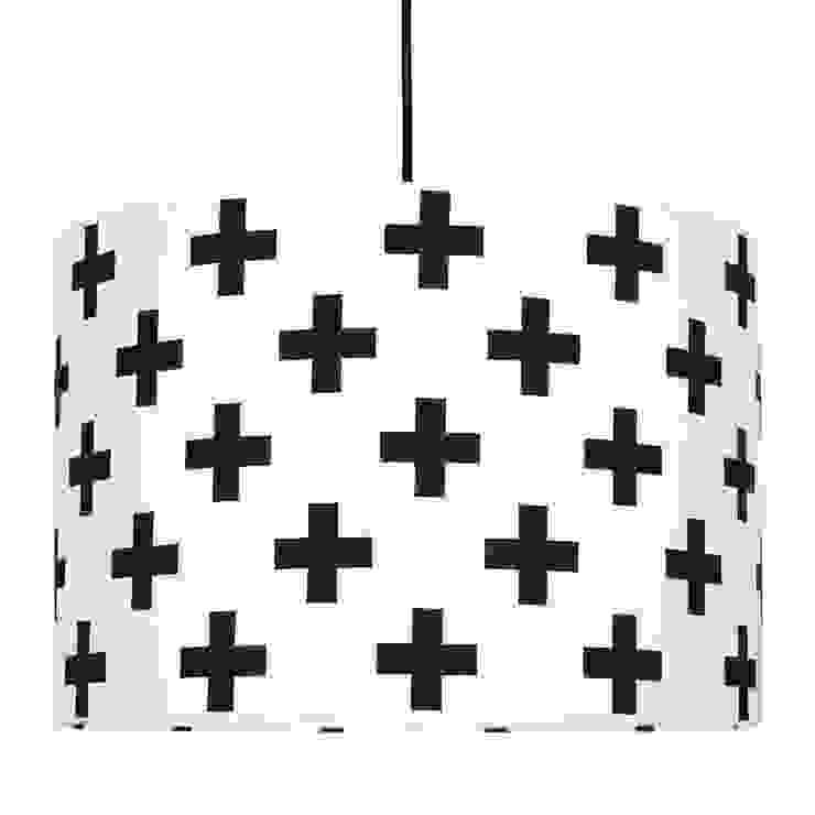 Lampa sufitowa krzyżyki czarne od youngDECO Skandynawski Bawełna Czerwony