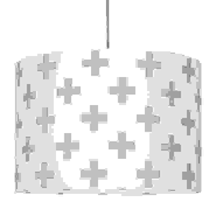 Lampa sufitowa krzyżyki szare od youngDECO Skandynawski Bawełna Czerwony