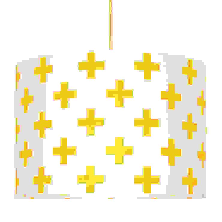 Lampa sufitowa krzyżyki żółte od youngDECO Skandynawski Bawełna Czerwony
