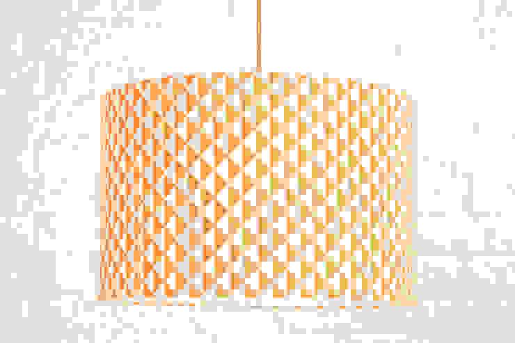 Lampa sufitowa romby małe pomarańczowo-białe od youngDECO Skandynawski Bawełna Czerwony