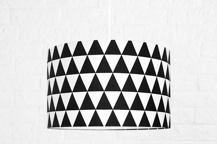 Lampa sufitowa romby czarne od youngDECO Skandynawski Bawełna Czerwony
