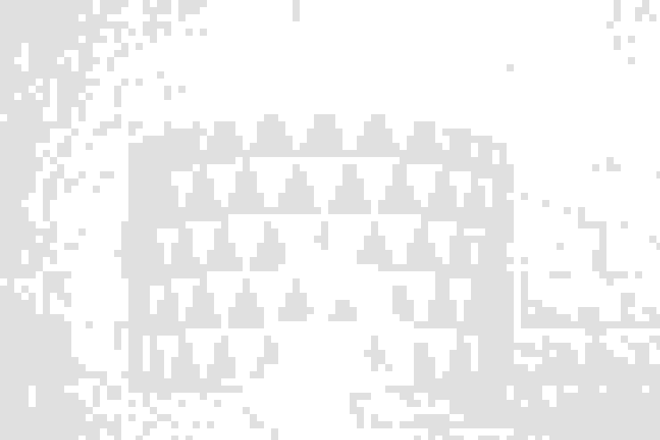 Lampa sufitowa trójkąty miętowe od youngDECO Skandynawski Bawełna Czerwony
