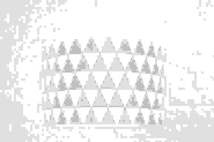 Lampa sufitowa trójkąty szare od youngDECO Skandynawski Bawełna Czerwony