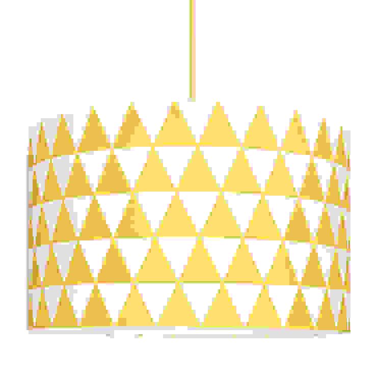 Lampa sufitowa trójkąty żółte od youngDECO Skandynawski Bawełna Czerwony