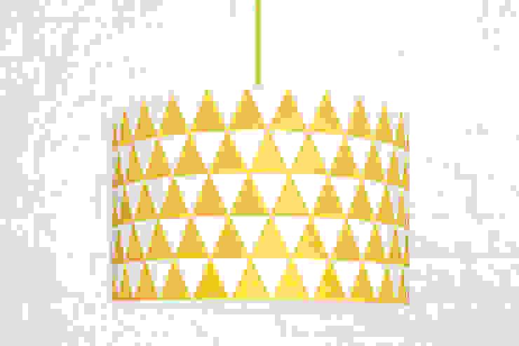 Lampa sufitowa trójkąty żółte od youngDECO Skandynawski