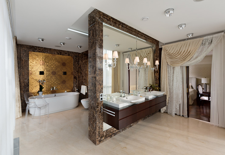 Eclectic style bathrooms by А3 ARCHITECTURAL BUREAU Eclectic