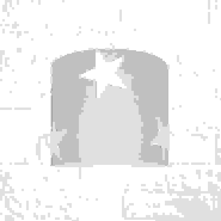 Kinkiet gwiazdy na szarym od youngDECO Skandynawski Bawełna Czerwony