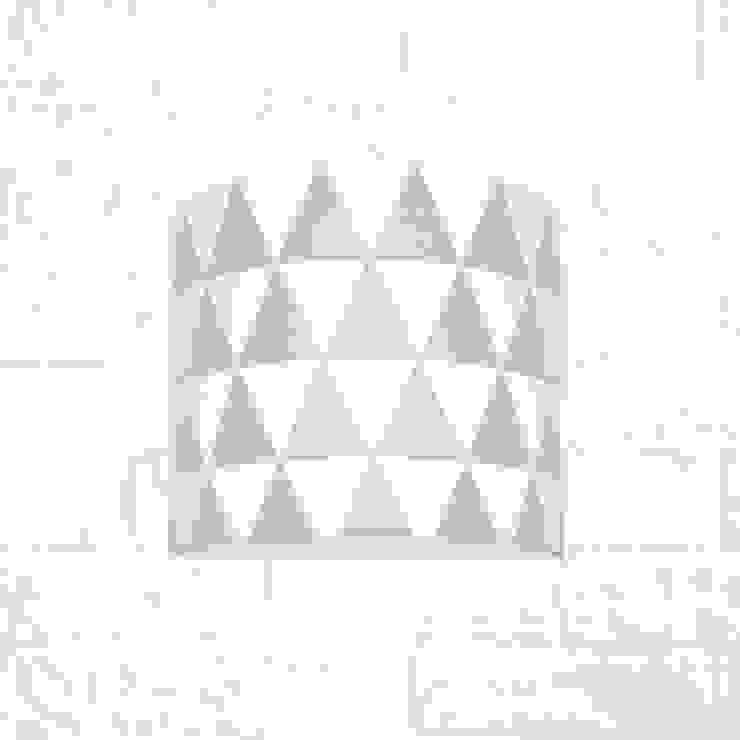 Kinkiet trójkąty szare od youngDECO Skandynawski Bawełna Czerwony