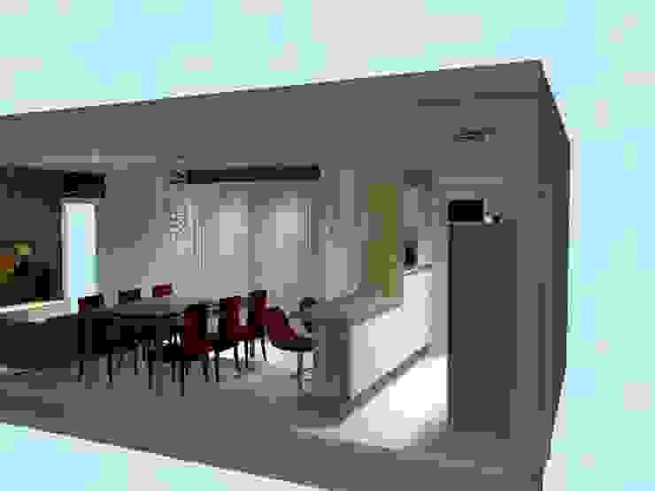 Cozinha, sala de jantar e estar por Innova Fatto Moderno
