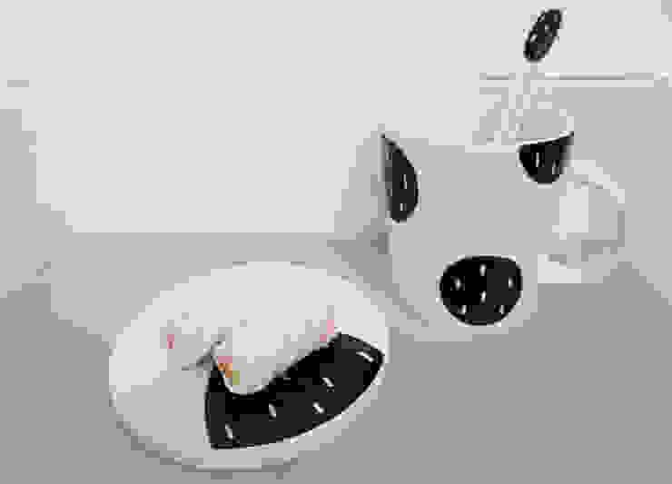 블랙 플라워 커피잔set: 그릇이좋아 의 현대 ,모던