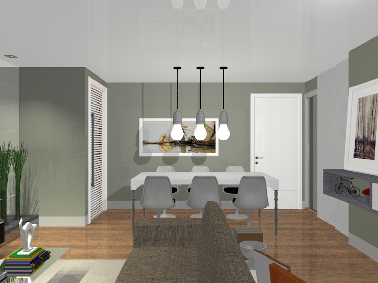 Sala estar e jantar por Innova Fatto Moderno