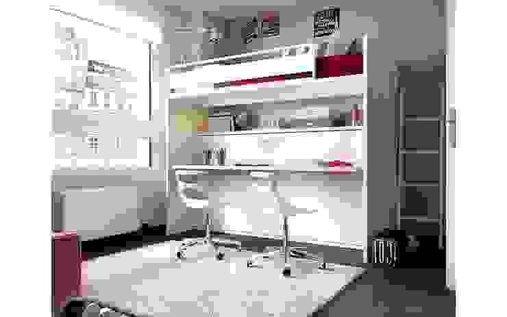 Dormitorio juvenil blanco Dormitorios de estilo moderno de Casasola Decor Moderno