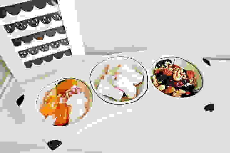 블랙 3구 플레이트: 그릇이좋아 의 현대 ,모던