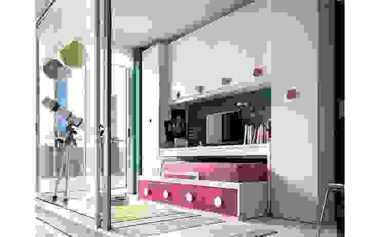 Dormitorio juvenil blanco y rosa Dormitorios de estilo moderno de Casasola Decor Moderno