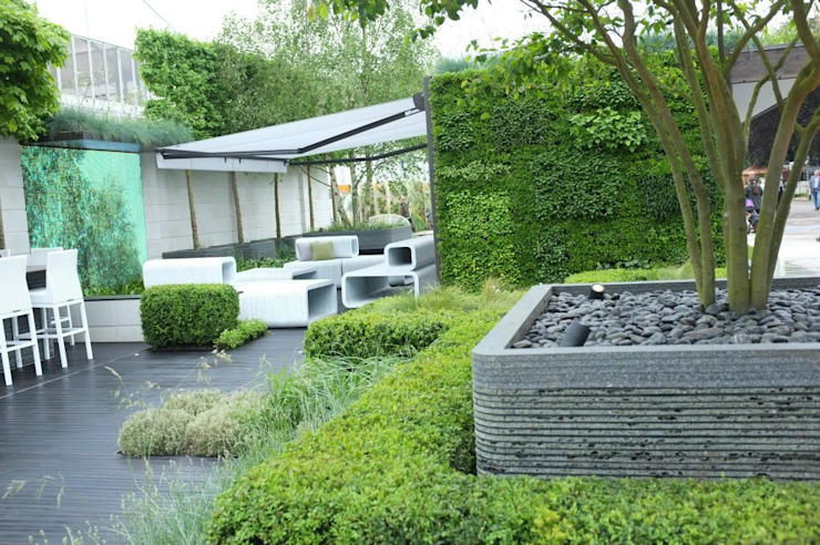 Chelsea Flower Show 2012 : The Rootop Workplace of Tomorrow Modern commercial spaces by Aralia Modern Bamboo Green