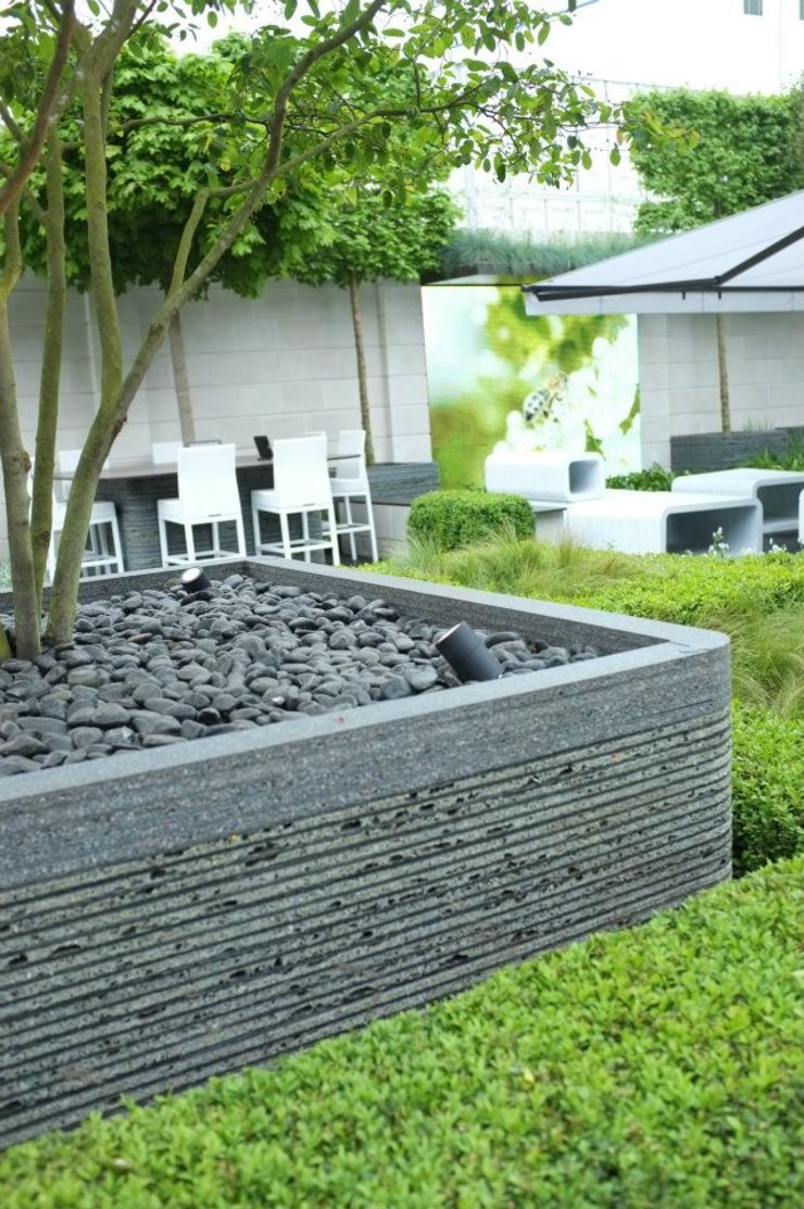 Chelsea Flower Show 2012 : The Rootop Workplace of Tomorrow Modern commercial spaces by Aralia Modern Stone
