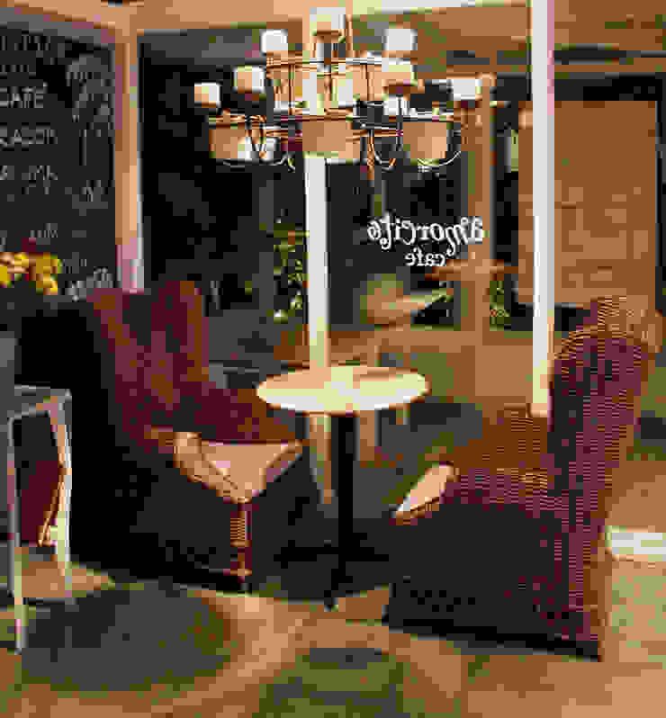 Amorcito Cafe- Boue Arquitectos Gastronomía de estilo tropical de Boué Arquitectos Tropical