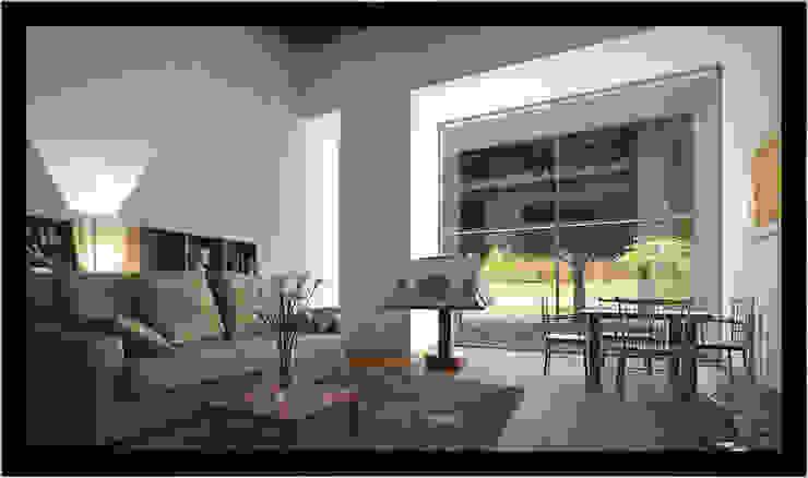 Casa Barragan Espaços de trabalho clássicos por 3D-Hiper-Realismo- Clássico