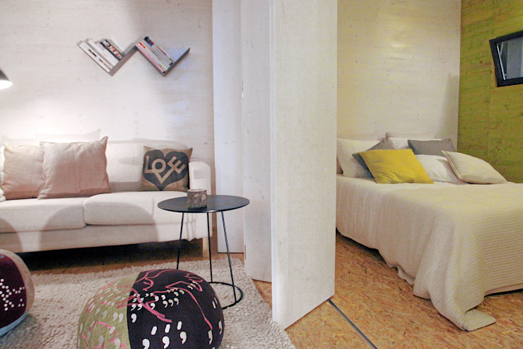 TreeHouse Spot Camera da letto minimalista di Plano Humano Arquitectos Minimalista