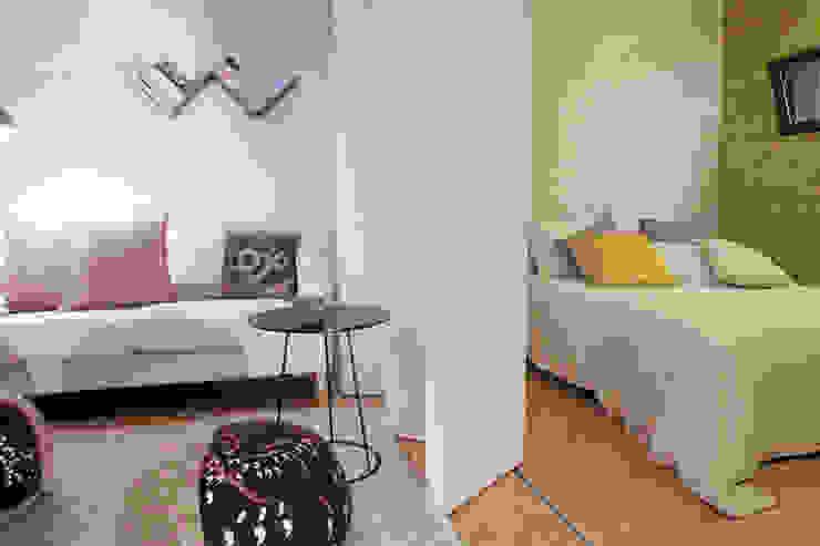 Sala e Quarto Quartos minimalistas por Plano Humano Arquitectos Minimalista