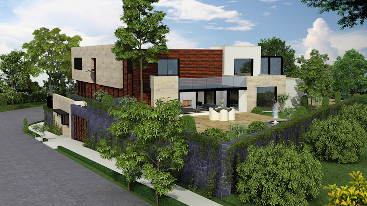Casa Monte Carpatos- Boue Arquitectos Salones modernos de Boué Arquitectos Moderno
