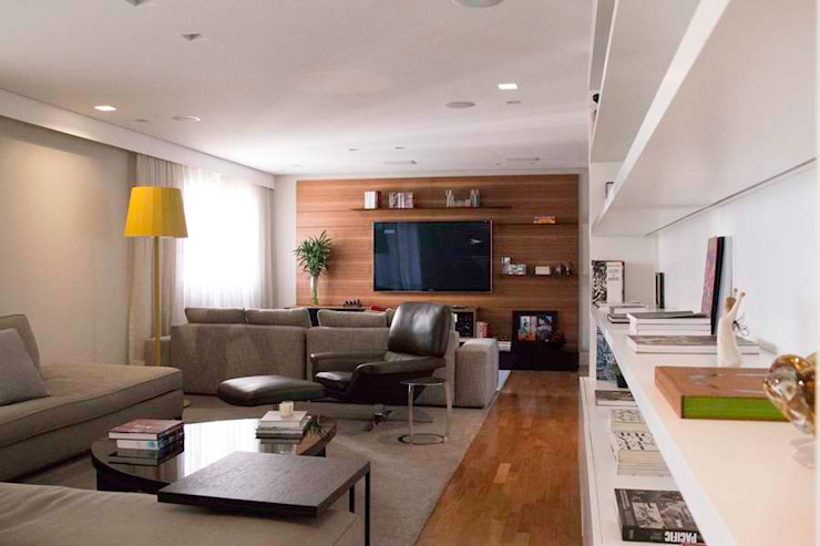 Living 2 MONICA SPADA DURANTE ARQUITETURA Salas de estar modernas