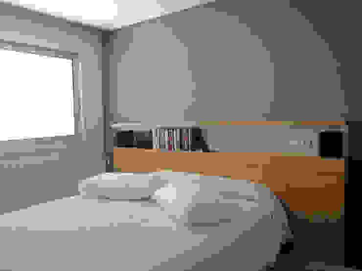 Projeto de Remodelação Apartamento FL Quartos minimalistas por Pedaços de Casa Minimalista