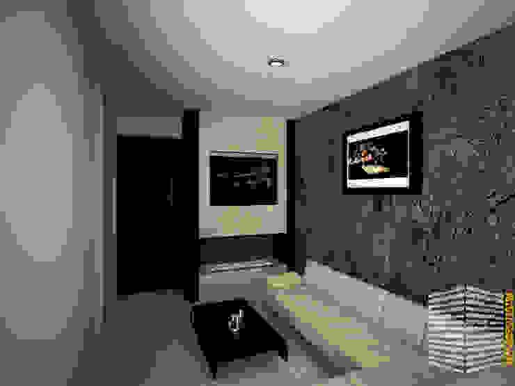 CENTRO DE DIVERSIONES Salas multimedia minimalistas de HHRG ARQUITECTOS Minimalista