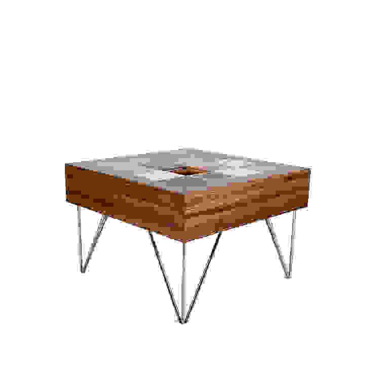 Mesa Puzzle por GOTO Mediterrânico Derivados de madeira Transparente