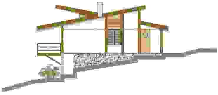 Casa Parurú Casas campestres por Dualday Studio Campestre Madeira maciça Multi colorido