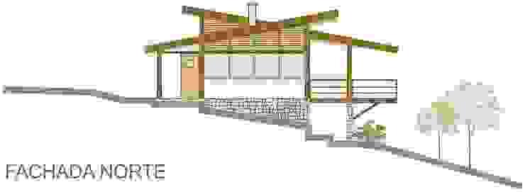 Casa Parurú Casas campestres por Dualday Studio Campestre Madeira Efeito de madeira